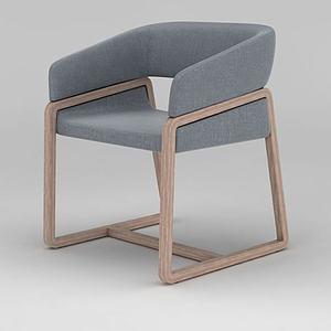 3d现代北欧坐椅模型