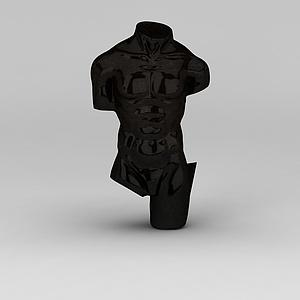 3d欧式黑色<font class='myIsRed'>人体</font>雕塑品模型