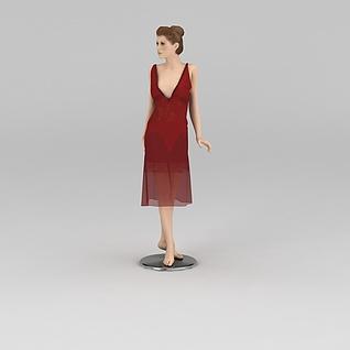 欧美女模特3d模型