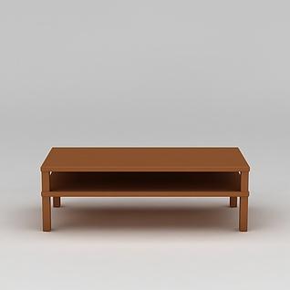 简约实木电视柜3d模型3d模型