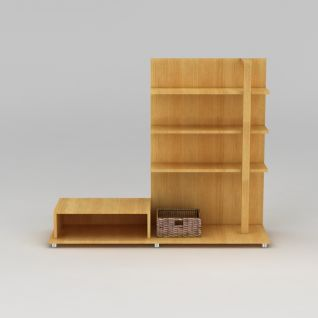 现代实木组合电视柜3d模型3d模型