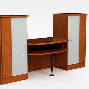 现代简约电视柜套装模型3d模型