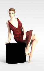 欧美女模特模型3d模型