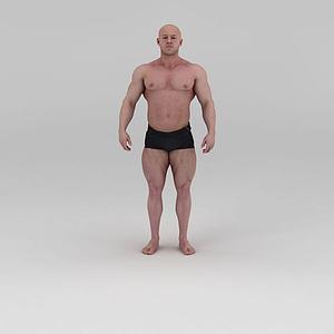 影视级健美先生肌肉男模型