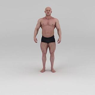 影视级健美先生肌肉男3d模型