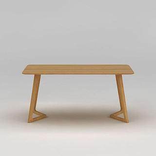简约实木<font class='myIsRed'>餐桌</font>3d模型