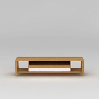 现代实木电视柜3d模型3d模型