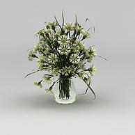 鲜花摆件3D模型3d模型