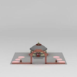 浩比泰蒙古包旅游区3d模型