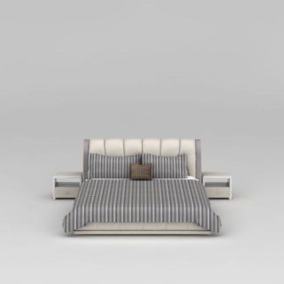 现代皮艺软床3d模型