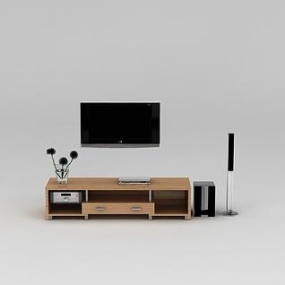 现代简约电视柜3d模型3d模型