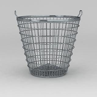 不锈钢垃圾桶3d模型3d模型