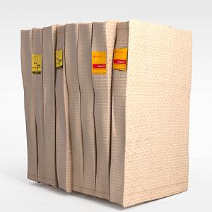 3d纸质包装盒模型