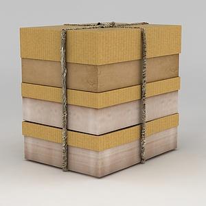 3d生活用品包装盒模型