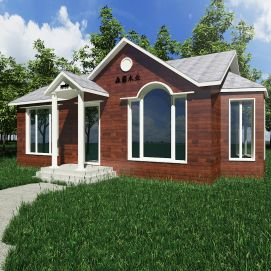 3d欧式小木屋模型