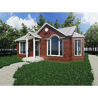 欧式小木屋3d模型