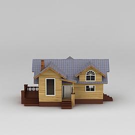 3d欧式木屋模型