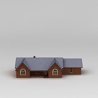 欧式木屋别墅3d模型