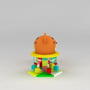 3d兒童淘氣堡<font class='myIsRed'>充氣</font>城堡模型