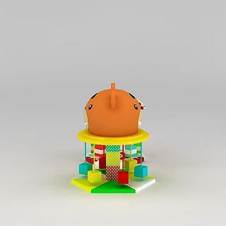 儿童淘气堡充气城堡3d模型