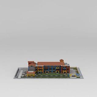 幼儿园建筑楼3d模型3d模型