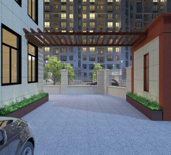 现代庭院廊架