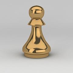 现代金属摆件模型3d模型