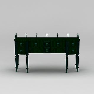欧式木艺桌子3d模型