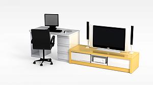 3d电视柜<font class='myIsRed'>办公桌</font>模型
