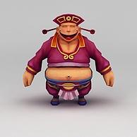 Q版小鱼儿与花无缺游戏角色3D模型3d模型