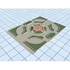 广场3D模型3d模型