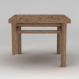 实木破桌子3d模型