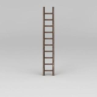 木梯子3d模型