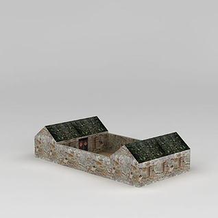 农家小院3d模型