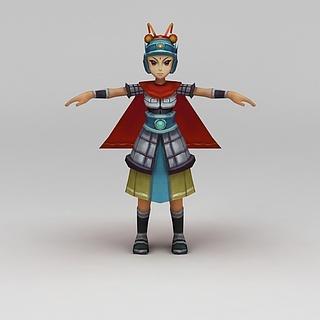 <font class='myIsRed'>Q版小鱼儿与花无缺</font>游戏人物3d模型