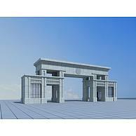 现代石门3D模型3d模型