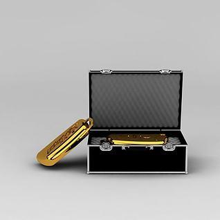 汽车金钥匙装饰品3d模型