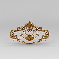 欧式金色雕花装饰品3D模型3d模型