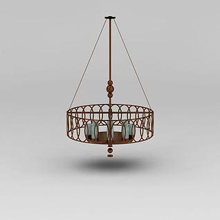 现代装饰吊灯3d模型