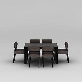 现代时尚家居餐桌椅3d模型