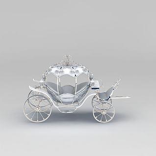 南瓜装饰马车3d模型