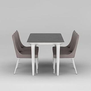 现代简约餐桌<font class='myIsRed'>餐椅</font>3d模型