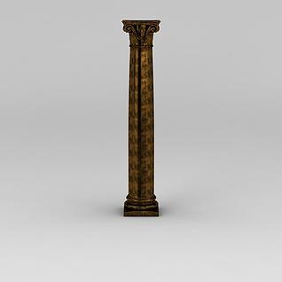 欧式金属建筑雕花柱子3d模型