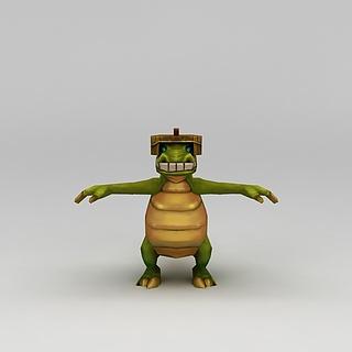 <font class='myIsRed'>Q版小鱼儿与花无缺</font>游戏角色乌龟3d模型