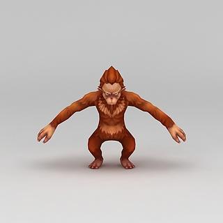 <font class='myIsRed'>Q版小鱼儿与花无缺</font>游戏角色猴子3d模型