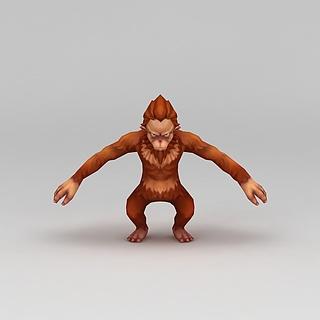 <font class='myIsRed'>Q版小鱼儿与花无缺</font>游戏角色猿人3d模型