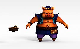 3dQ版小鱼儿与花无缺游戏角色<font class='myIsRed'>猪</font>人模型