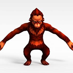 3dQ版小鱼儿与花无缺游戏角色<font class='myIsRed'>猴子</font>模型