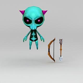 手游角色怪物3d模型
