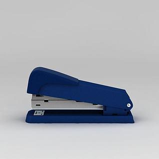 蓝色订书机3d模型